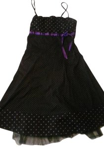 Other short dress Black&purple on Tradesy