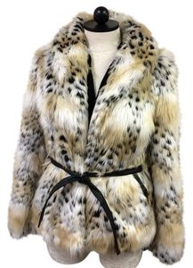 Rachel Zoe Faux Fur Winter Cozy Cozy Cute Fur Coat