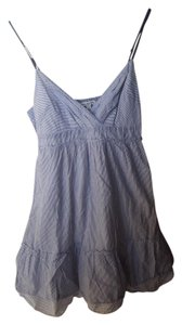 American Eagle Outfitters short dress Blue and White Striped Pinstripe on Tradesy