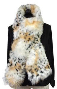 Rachel Zoe Rachel Zoe Snow Leopard Faux Fur Scarf Pull Through Animal Print