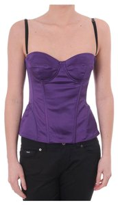 Dolce&Gabbana Satin Corset Top purple