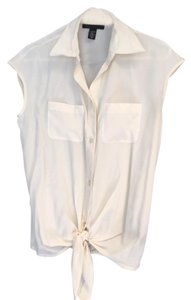 Kenneth Cole Silk Work Top White / Ivory