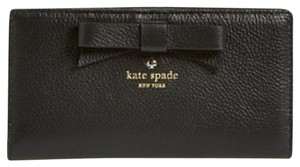 Kate Spade Kate Spade Bow Pebbled Leather Wallet