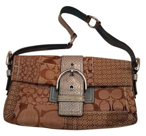 Coach Handbag Snakeskin Shoulder Bag