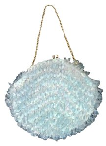 Other Beaded Vintage Evening Light Blue Clutch