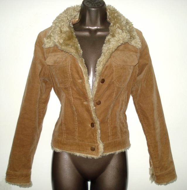 Misso Corduroy With Faux Fur Trim Size Small Womens Jean Brown Womens Jean Jacket
