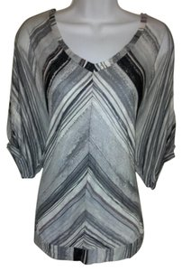 Ella Moss Dolman Stripe Top Grey