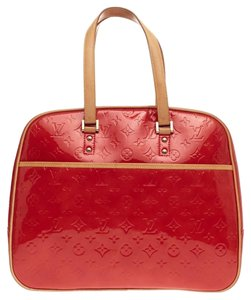 Louis Vuitton Sutton Vernis Satchel in Red