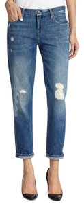 Genetic Denim Destroyed Distressed Indigo Boyfriend Cut Jeans-Distressed