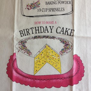 Anthropologie Birthday Cake Recipe Tea Towel