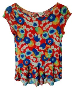 Weston Wear Anthropologie Top Red