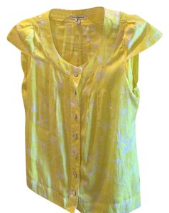 Banana Republic Button Down Shirt Yellow white
