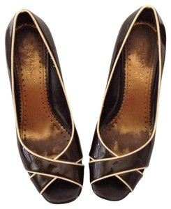 Franco Sarto Patent Leather Brown Pumps