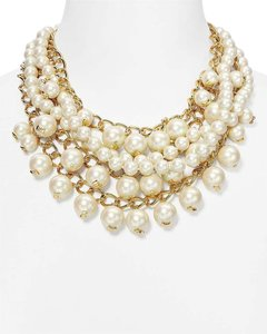 Kate Spade Purely Pearl Statement Necklace NWT So Versatile with a Little Black Dress or Under a Collar!