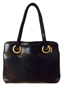 Satchel in Black 1960's VINTAGE