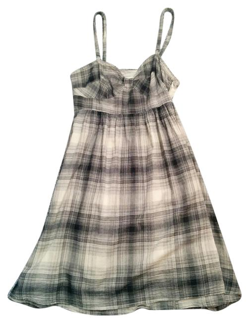 Item - Light Black and Cream Mid-length Short Casual Dress Size 2 (XS)