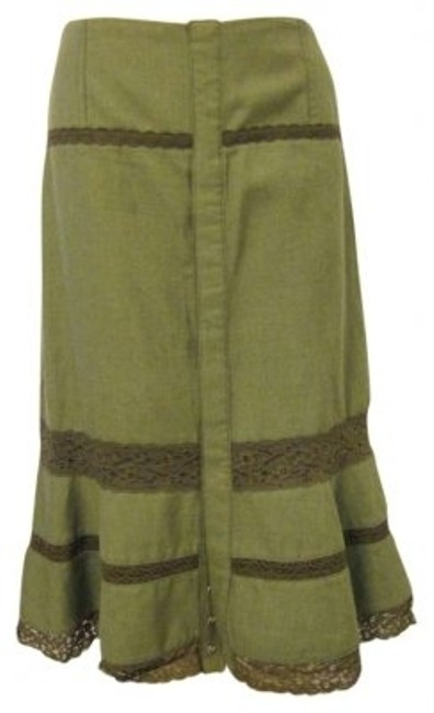 Preload https://item2.tradesy.com/images/free-people-olive-green-brown-snap-front-a-line-knee-length-skirt-size-6-s-28-160921-0-0.jpg?width=400&height=650