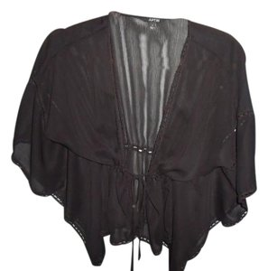Apt. 9 Sheer Cinched Waist Top Black