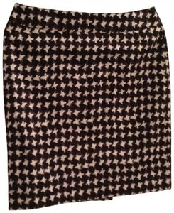 Talbots Pencil Cut Skirt black and white print