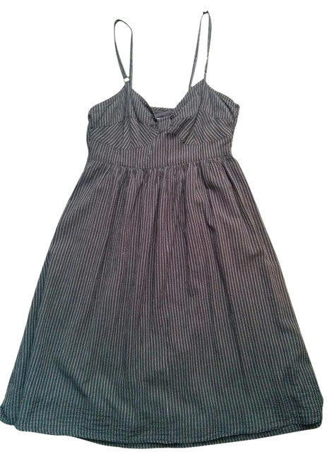 Item - Navy and White Knee Length Short Casual Dress Size 2 (XS)