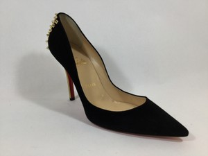 Christian Louboutin Zappa Spiked Studded Black Pumps