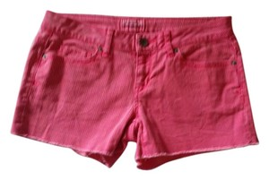 American Eagle Outfitters Cut Off Shorts Pink Pinstripes