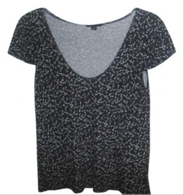 Banana Republic T Shirt black, white polka dot