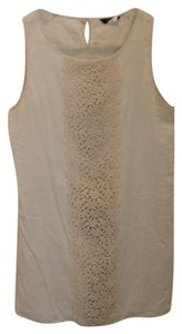 J.Crew short dress Cream Crochet Shift on Tradesy