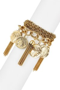 Yochi Yochi Alexander The Great Coin & Tassel Bracelet