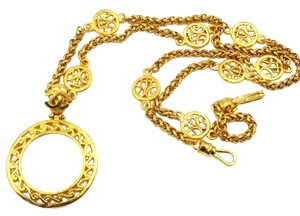 Chanel Chanel Gold Plated Large Manify Glass Classic Chain Necklace