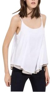 Kit and Ace Cotton Stretchy Pleated Top White