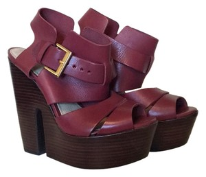 Topshop Burgundy Wedges