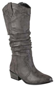 Journee Collection Riding Slouchy Black Boots