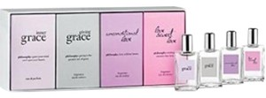 Other Philosophy 4 Piece Womens Variety With Inner Grace eau de Parfum & Giving Grace EDT & Unconditional Love EDT & Love Sweet Love EDT And All .33 oz Minis for Women Gift Set