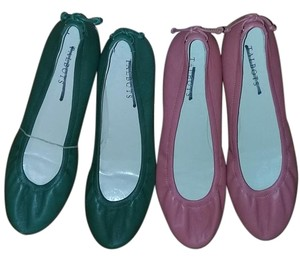 Talbots Leather pink and green Flats