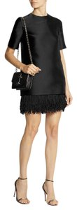 Stella McCartney Shift Fringe Hem Silk Classic Luxury Dress