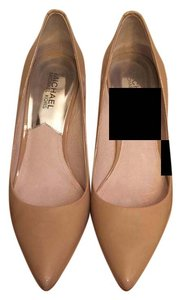 MICHAEL Michael Kors Pointed Toe Closed-toe Nude (Patent Leather) Pumps