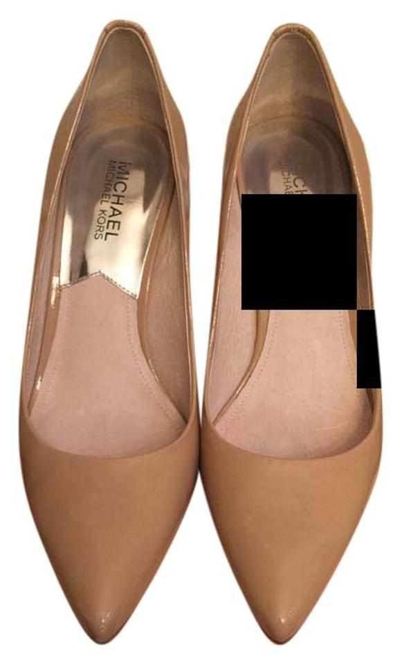 845b1bbf4 MICHAEL Michael Kors Pointed Toe Closed-toe Nude (Patent Leather) Pumps  Image 0 ...