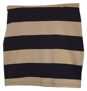 Divided by H&M Mini Skirt Black/Tan