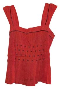Anthropologie Top Red, orange