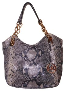 Michael Kors Lilly Tote in Sand Python