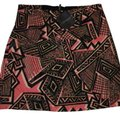 Topshop Mini Skirt Black/Multi