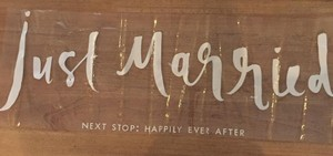 Kate Spade White Just Married Sticker Ceremony Decoration