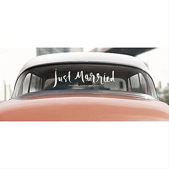 Kate Spade White Just Married Sticker Ceremony Decoration Image 1