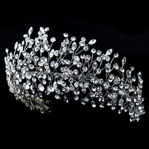 Hand Wired Crystal Tiara Wedding Headpiece