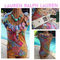 Ralph Lauren Sleeveless Paisley Ruffle Top Multi