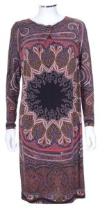 Etro short dress Multi Long Sleeve Shift Printed on Tradesy