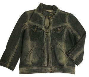 DKNY Dark and Light Wash Denim Womens Jean Jacket