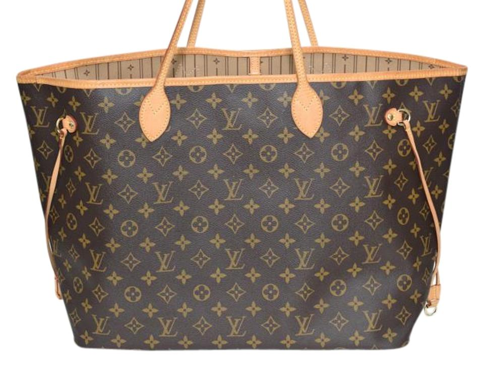 2d17fa418672 Louis Vuitton Tote in Monogram with beige interior ... Louis Vuitton  Neverfull Kusama Waves Mm ...