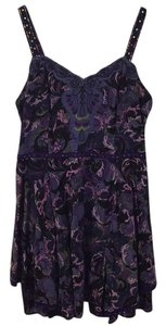 Free People short dress Purple/Black Print on Tradesy